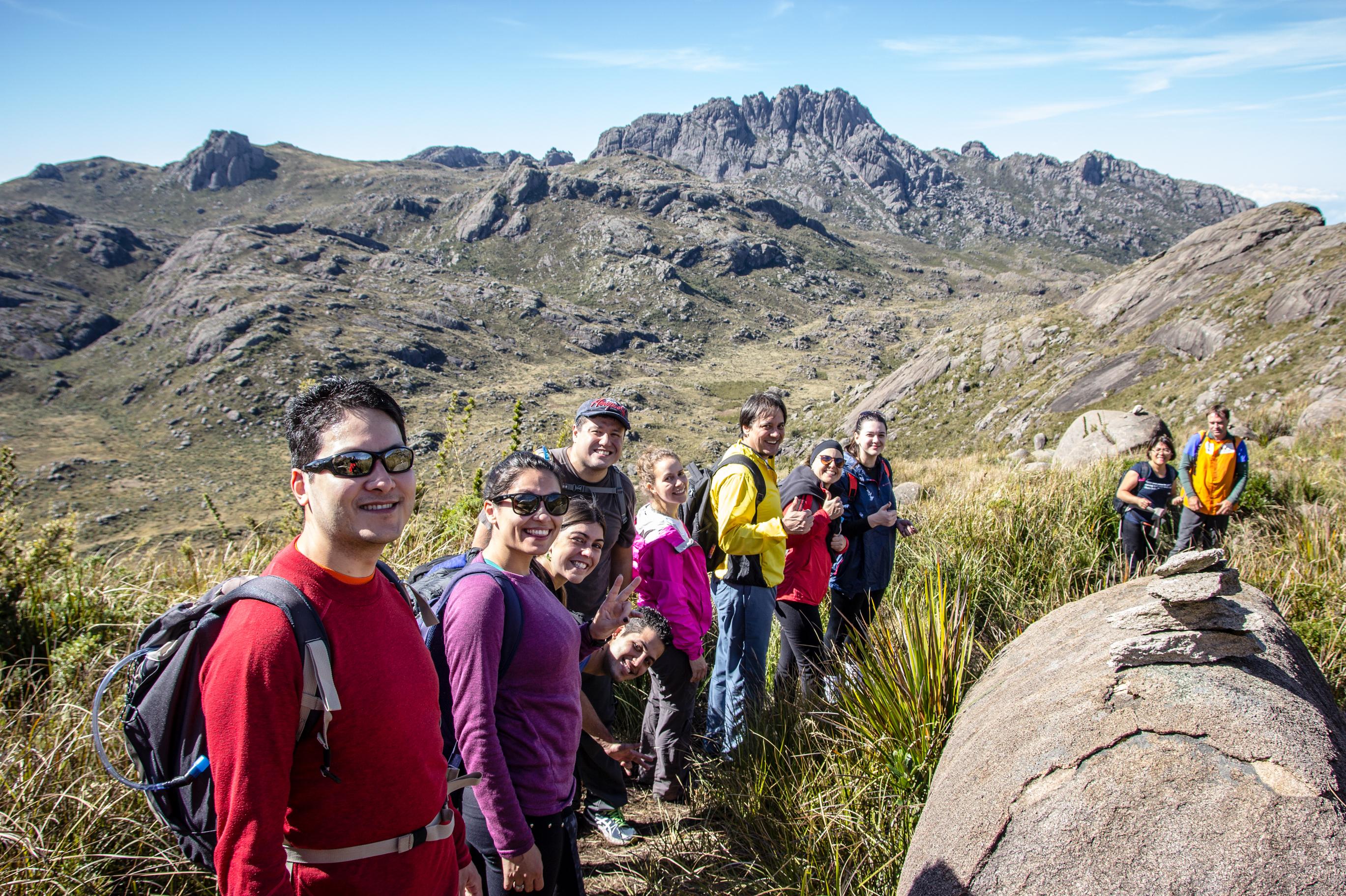 Grupo na trilha